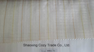New Popular Project Stripe Organza Voile Sheer Curtain Fabric 008271 pictures & photos