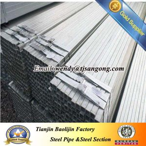 Black and Galvanized Steel Tube pictures & photos