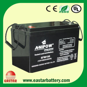 12V 100ah AGM Sealed Lead Acid Battery (EA-12-100) pictures & photos