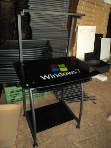Glass Computer Desk with Windows7