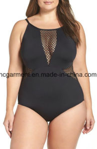 Large Size Swimsuit for Women, Plus-Size One-Piece Swimming Wear pictures & photos