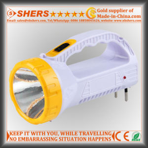 Rechargeable 1W LED Torch with 12 LED Table Light (SH-1959) pictures & photos