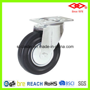 125mm Swivel Plate Black Rubber Castor Wheel (P102-11D125X37.5) pictures & photos