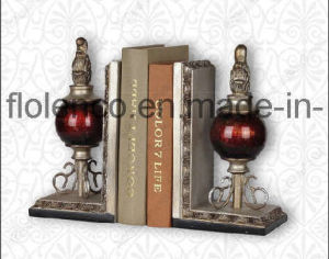 Glass Polyresin Bookends (FL-437)