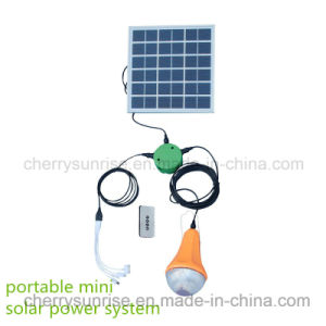 18V Mini Home Solar System for Charging Mobile Phone and Lighting for Family pictures & photos
