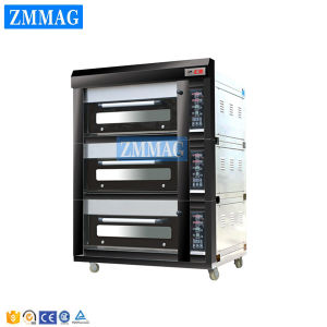 Luxury Electric Three 3 Deck Bakery Pizza Oven Price (ZMC-312D) pictures & photos