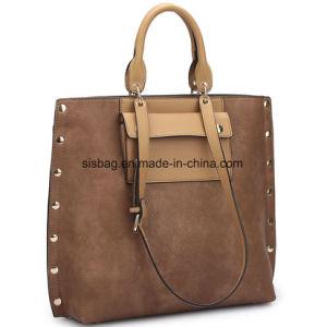 Leisure Designer PU Leather Women Handbag Stitching Shoulder Bag pictures & photos