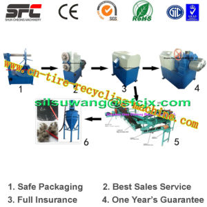 Full Automatic Waste Tire Recycling Machine, Tire Recycling Machine with Ce&ISO&SGS (300~1000kg/h) pictures & photos