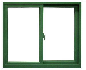 Aluminum Powder Coating Green Sliding Window