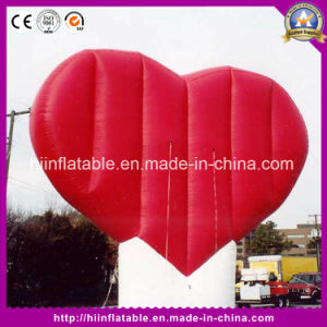 Lovely and Giant LED Light Heart, Fantastic Fine Quality Inflatable Fantastic Heart pictures & photos