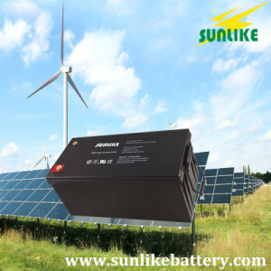 Maintenance Free Deep Cycle Sealed Lead-Acid AGM Solar Battery 12V200ah pictures & photos