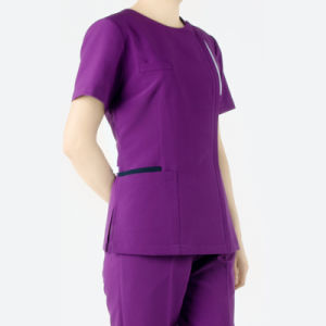 Purple Colors Short Sleeve Medical Scrubs pictures & photos