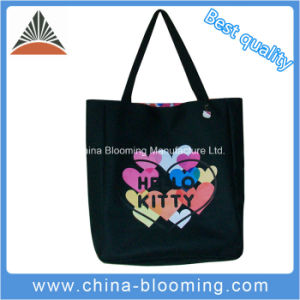 Fashion Lovely Reusable Polyester Tote Shopping Shoulder Leisure School Bag pictures & photos