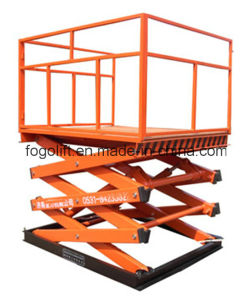 Good Quality Lifting Height 6m Electric Hydraulic Platform Lifter pictures & photos