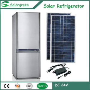 138L Double Door Mini Fridge Solar Refrigerator Freezer pictures & photos
