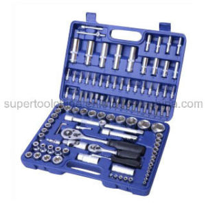 "Quality 108PC 1/4"" & 1/2"" Dr. S Socket Set (100108) pictures & photos"