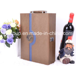 Customized Portable High Quality Leather Wine Box pictures & photos