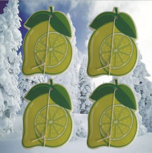 Customized Paper Lemon Scents Car Freshener pictures & photos