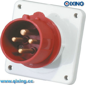 Panel Mounted Flage Plug Comfirmed with IEC Standard (QX813) pictures & photos
