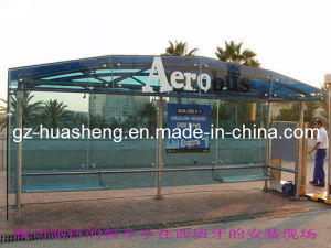 Bus Shelter with Tempered Glass (HS-BS-B016) pictures & photos