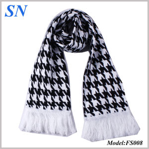 2014 Custom Jacquard Knit Scarves Skinny Checked Scarf (FS008) pictures & photos