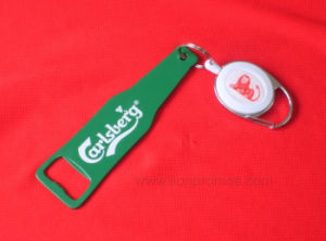 Beer Promotional Gift Metal Bottle Opener with Reel pictures & photos