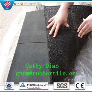 Tot Sale Gym Rubber Mat Tiles Anti Slip Rubber Tile Mat Outdoor Rubber Tile pictures & photos