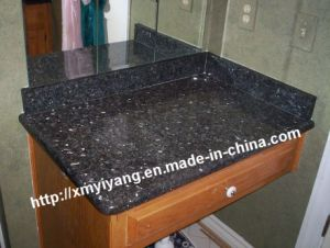 Polished China Butterfly Green Granite Vanity Tops pictures & photos
