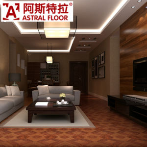 Beautiful Luxurious Style Red Color Parquet Laminated Flooring pictures & photos