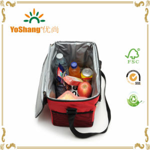 Promotional Cooler Insulated Lunch Bag with Zipper for Office pictures & photos