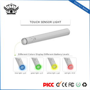 Bud 280mAh Touch Preheat Function 510 Glass Atomizer Buttonless Vape Battery pictures & photos