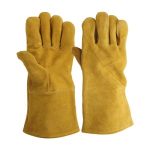 Split Leather Welding Gloves for Worker Safety pictures & photos