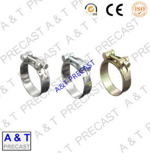 German Type Hose Clamp High Torque Worm Drive Hose Clamp pictures & photos