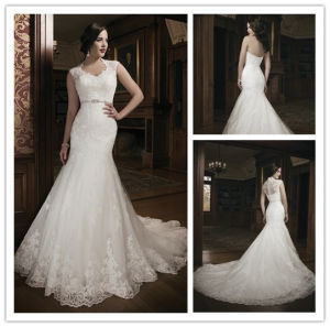 2014 Hot Sale Brand Name Full Lace Mermaid Bridal Wedding Dress (BD10030) pictures & photos