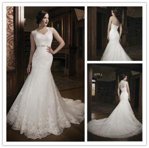 2014 Hot Sale Brand Name Full Lace Mermaid Bridal Wedding Dress (BD10030)