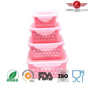 4PCS Square Plastic Microwave Food Container pictures & photos