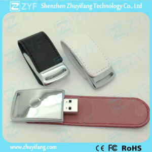 2015 Hot Sale New Design Leather USB Drive (ZYF1404)