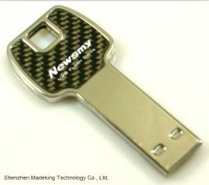 2015 Promotional Metal Key Shape USB Flash Drives Flash Memory pictures & photos