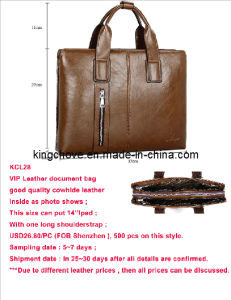 Good Selling Brown Cowhide Leather Document Bag (KCL28) pictures & photos