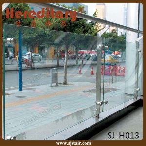 Ce Certificated Frosted Stainless Steel Glass Railing for Balcony (SJ-H009) pictures & photos