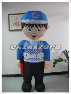 Custom Made Policeman Image Inflatable Movable Cartoon pictures & photos