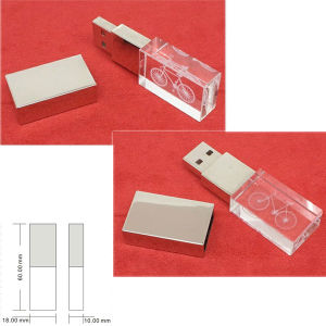Laser Logo Printing Colorful Light USB Flash Disk Transparent USB Memory Disk pictures & photos