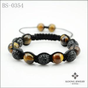 Agate Stone Shamballa Bracelet (BS-0354)