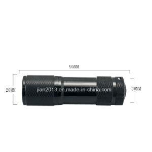 9PCS UV Purple AAA Battery LED Flashlight pictures & photos