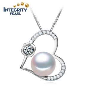 10-11mm Semi Round AAA Freshwater Heart Shape Jewelry Pearl Pendant pictures & photos