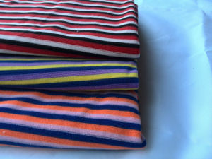 Polyester Colorful Stripe Terry Towel Cloth Fabric for Home pictures & photos