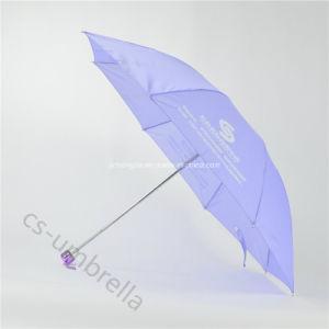"21"" Light Purple Print Logo 4 Fold Umbrella (YS4F0003) pictures & photos"