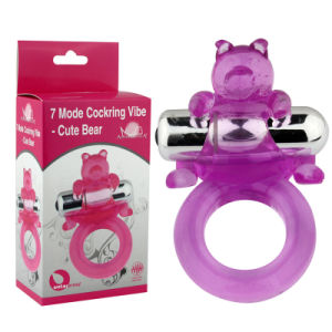 7 Modes Vibration Cute Bear Shape Penis Ring Cock Ring pictures & photos