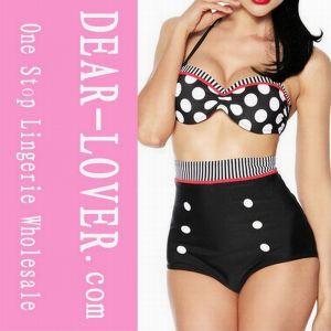Vintage Polka DOT High Waist Pin up Bikini pictures & photos