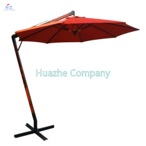 10ft (3m) Hanging Umbrella Beach Umbrella Patio Umbrella Outdoor Umbrella Garden Umbrella Hanging Wood Umbrella Parasol pictures & photos
